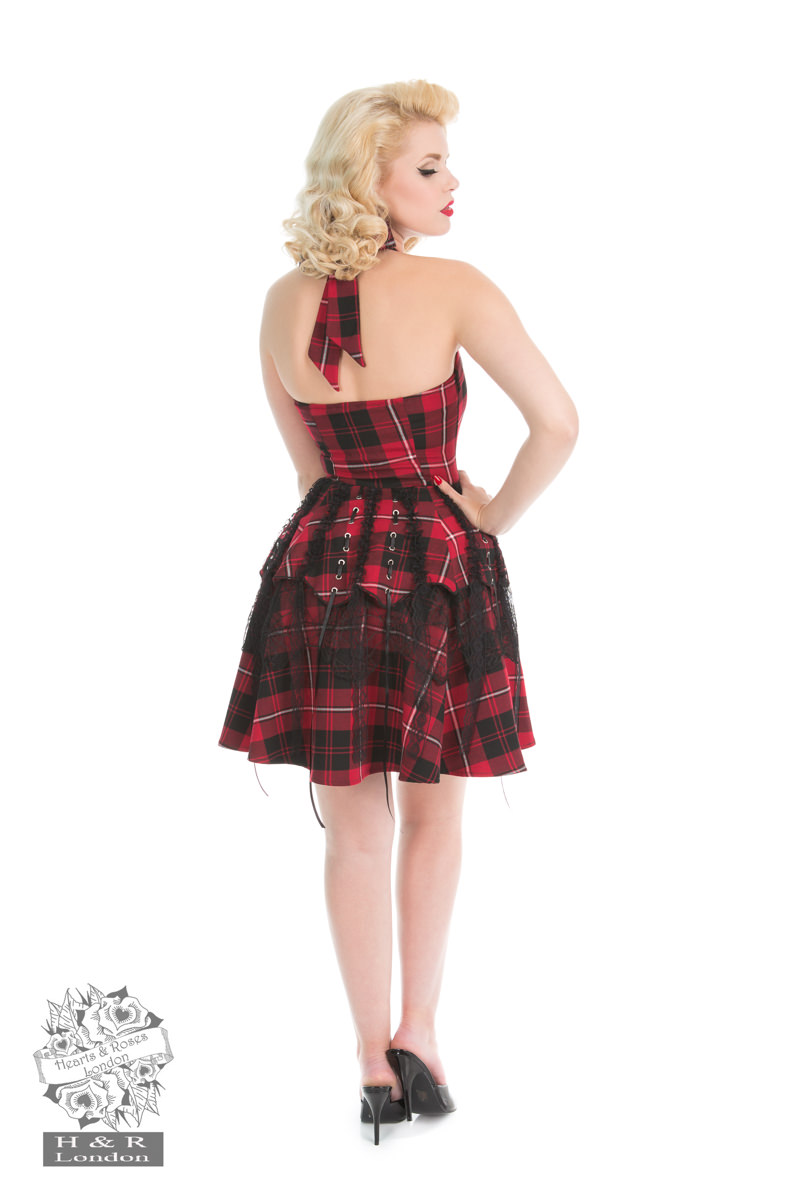 Pretty Pirate Tartan Minidress